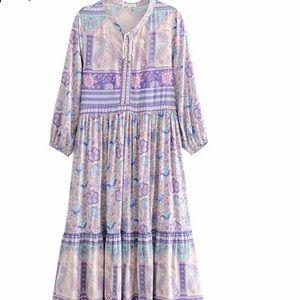 Boho purple dress